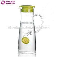 Juice Drinking Silicone Lid Glass Water Jug With Measuring