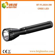 Bulk Sale 160lumen Aluminum cree Powerful 3w led rechargeable Meilleur torche de lampe de poche militaire avec 2sc Nicd Battery