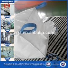 top valve, bottom discharge opening /pp jumbo bag/1000kg super sack/pp big bag 1ton /Circular PP FIBC Bag