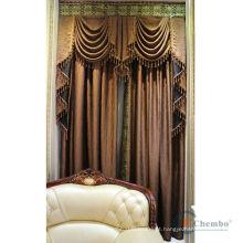 Estoque de tecido de cortina de cor personalizado para venda