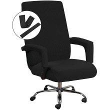 Capa protetora preta extensível para cadeira de escritório universal