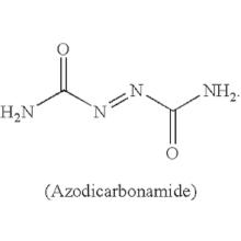 decomposition  azodicarbonamide temperature