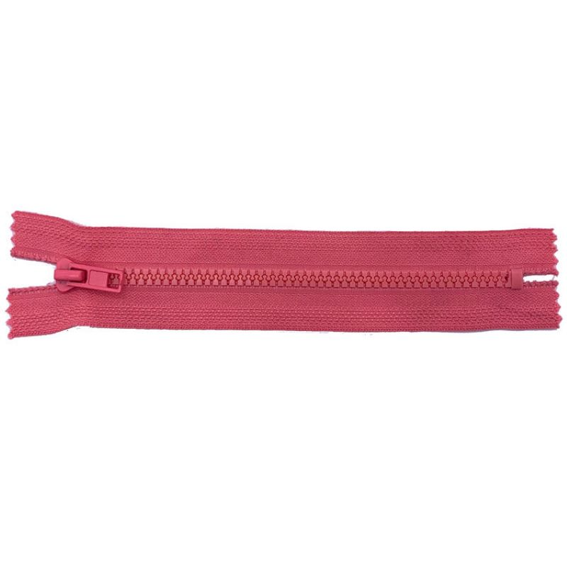 Various colour plastic separating coat zippers
