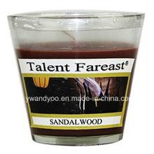 Bougie parfumée de soja de bois de santal