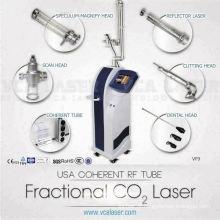 Cirurgia a laser de CO2 com RF medicinal para máquina de resurfacing e rejuvenescimento da pele dermatológica