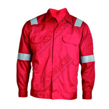 hot sales Fireproof and Anti-static CVC jacket for workman in firefight field