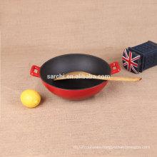 Enamel non-stick iron casting burner stove wok