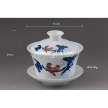 """Mandarin Duck"" Copos de chá de cerâmica fina Gaiwan"
