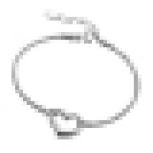 Bracelete feminino em forma de coração de 925 prata esterlina