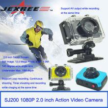 JEXREE FULL HD 30meters impermeable nueva cámara de acción de la cámara de deporte 1080p 2,0 pulgadas de pantalla táctil de acción de la cámara de vídeo