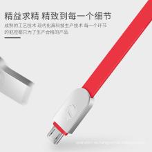 Cable de datos de TPE de carga rápida AWG23 micro usb