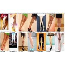 2015 Japan Asia fashion new design splicing tattoo socks stocking tube for sex leg