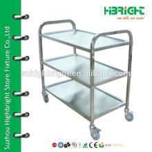 stainless steel restaurant service cart