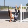 Digital Printing Black Sport Gym Yoga Leggings Pants (3033)