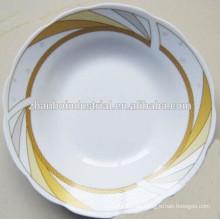 Placa de sopa profunda de cerámica con diseño de flor agradable