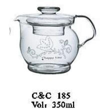 Large Production Manufacturer Branded High Quality Glass Drink Teapot