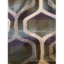 Nova chegada hexágono design 100% poliéster jacquard cortina tecido