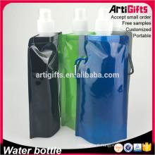 Conception personnalisée isolé bouteille d'eau pliable en gros
