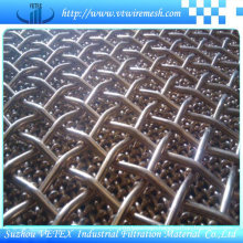 Lock Bending Stainless Steel Crimped Square Mesh