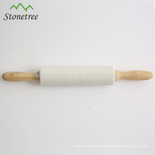Deluxe Natural Stone Rolling Pin with Stand