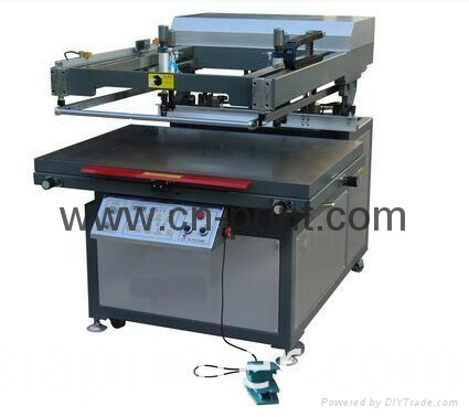 flatbed screen printing machine