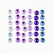 Aderente Round Purple Gemstone