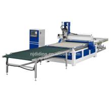 Full Automatic CNC roteador ATC linha de produção de móveis com broca centro de corte