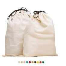 Customized reusable portable travel canvas laundry bags cotton heavy duty eco friendly drawstring laundry bag