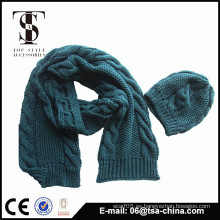 El diseño hecho a mano de la manera del 100% nuevo hizo punto el sombrero de la bufanda