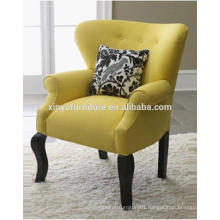 Leisure yellow fabric living room single sofa XYD449