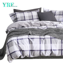 Hospital Cotton Fabric Bed Sheet Set Cheap Price New Product Slate Blue Stripe Checker