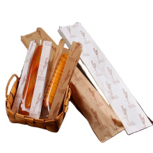 High Quality custom size kraft paper bag with window for french baguette bakery bread sandwich