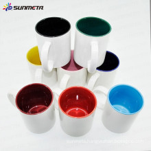 Sunmeta blank sublimation coating mugs inner color mug11oz sublimation cups