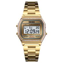 SKMEI 1474 Fashion gold color watch Women Digital 3 atm water waterproof sport wristwatch women watches reloj