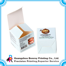 Offset printing laminated snap bottom paper box cosmetic