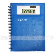 Kleine Größe 8-stellige Notebook-Rechner mit PVC-Frontabdeckung (LC563C)