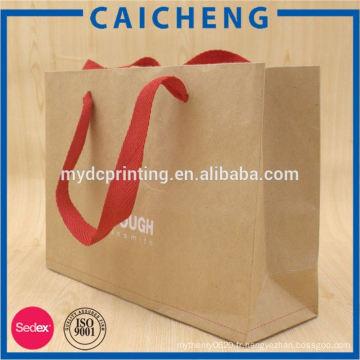 sac de rangement en papier kraft lavable