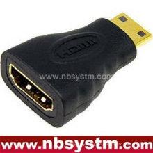 Für Laptop HDMI Adapter Ein Typ weiblich zu Mini HDMI C Typ männlich