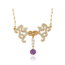 43082 Xuping Jewelry Fashion 18K plaqué or femmes pendentif collier