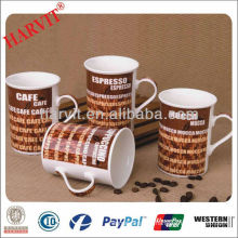 Cheap Ceramic Coffee Mug Wholesale/ Decorative Coffee Mugs With decor/ Drinking Water Cup