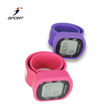 3D Time Display Silicone Wristband Pedometer