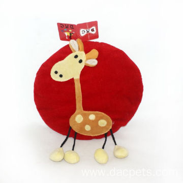 plush kids deer round cushion