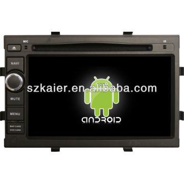 Reproductor de DVD del coche Android System para Chevrolet Cobalt / Onix con GPS, Bluetooth, 3G, iPod, juegos, zona dual, control del volante