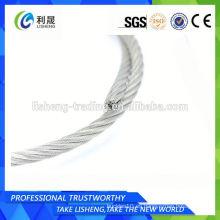 Cuerda de alambre de cable de acero inoxidable 7x19