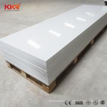painel de parede branco de geleira de alto brilho folha de superfície sólida pedra projetada