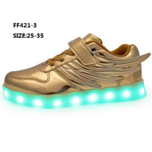 OEM Children Popular Wings LED Shoes Fashion Sport Shoes (FF421-3)
