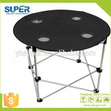 2015 hot selling round folding picnic table camping