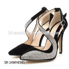 El alto talón del diamante de la manera SR-14WHE985 calza los zapatos atractivos del alto talón del diamante de las señoras de las sandalias del alto talón del diamante
