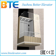 Ce 1600kg Good View Panoramic Lift with Machine Room