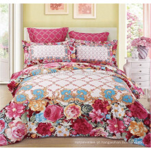 Luxuoso estilo de uso do casamento Quilt Cover Bedding Set com travesseiros King Size